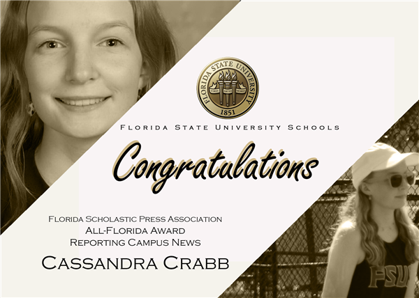 Cassandra Crabb Receives Award from FSPA for her Reporting