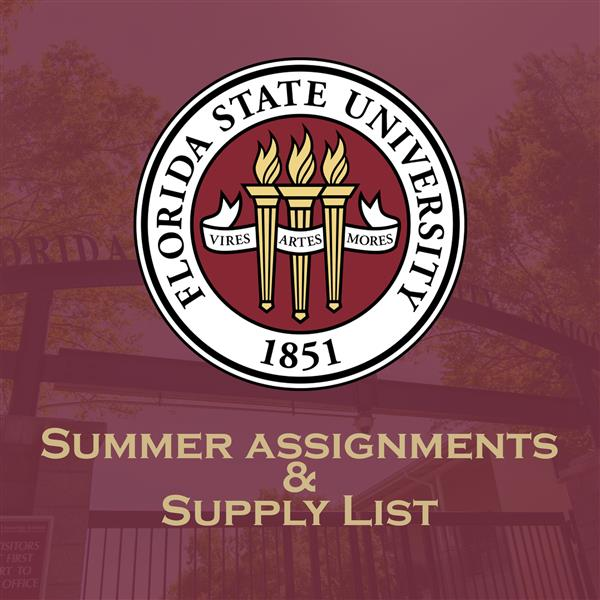 Summer Assignments and Supply Lists 2020
