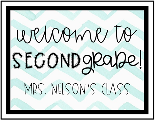 Welcome to 2nd Grade!